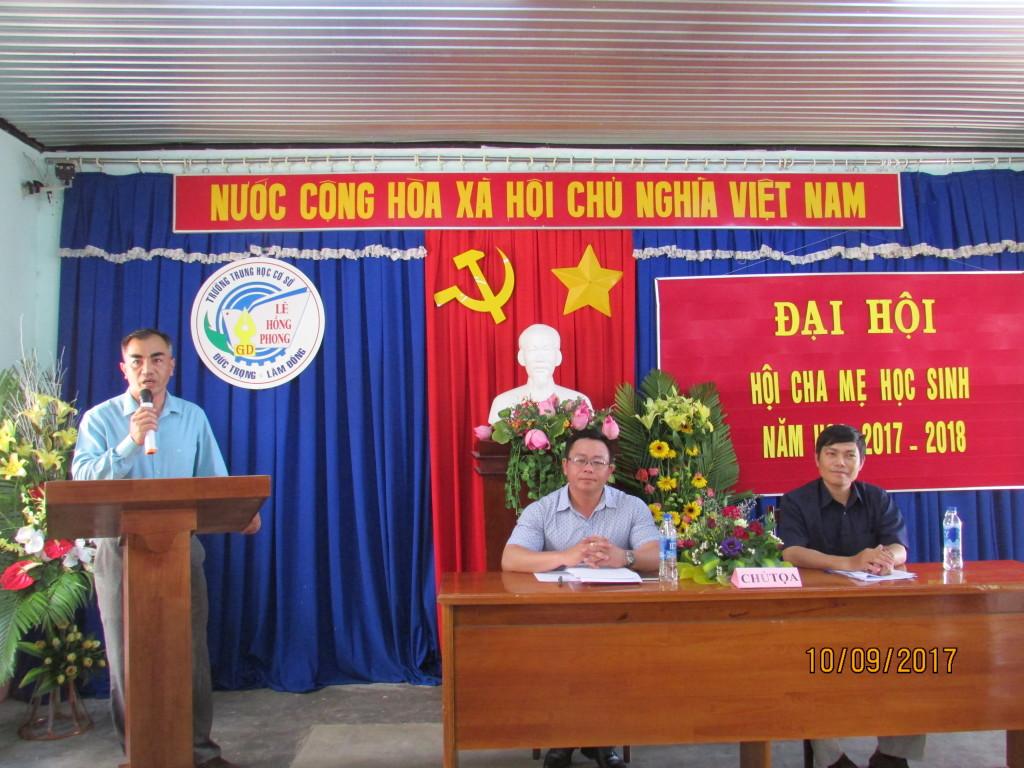 Phát biểu của ông Nguyễn Đức Tuấn trưởng ban đại diện hội cha mẹ học sinh