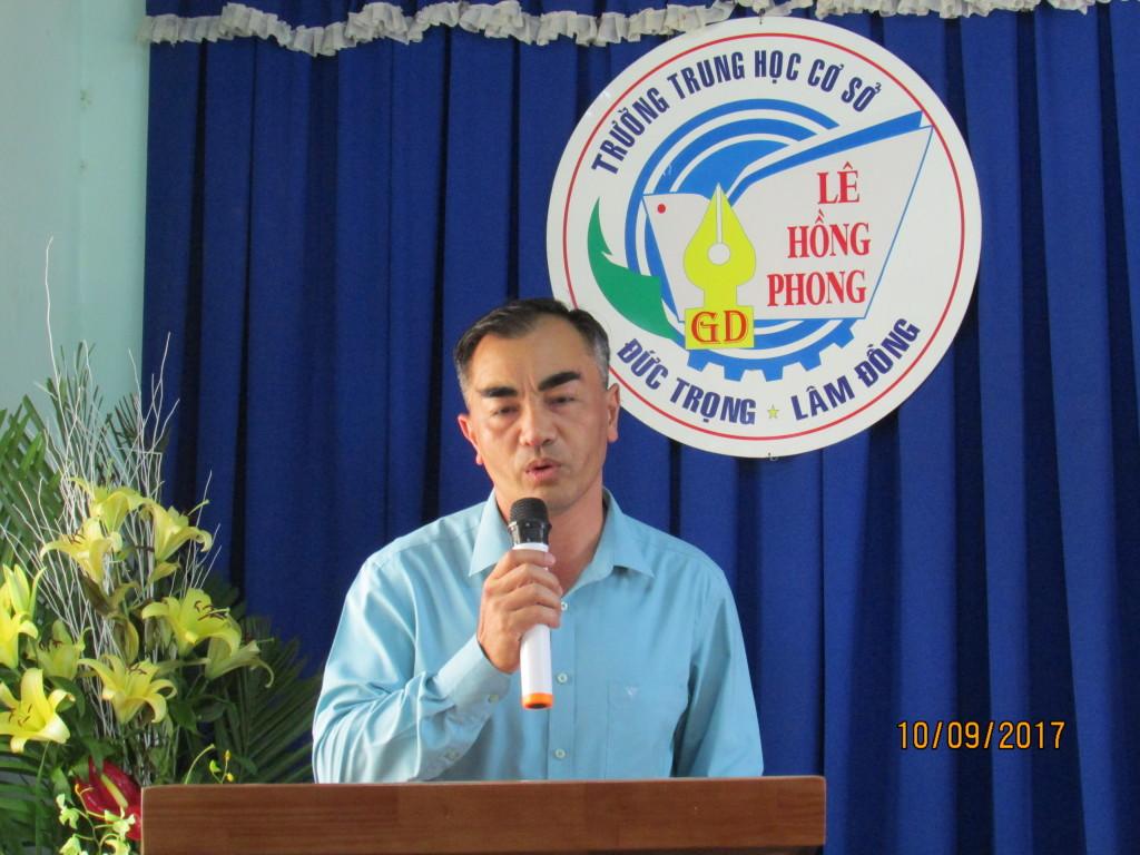 Ông Nguyễn Đức Tuấn trưởng ban đại diện hội cha mẹ học sinh