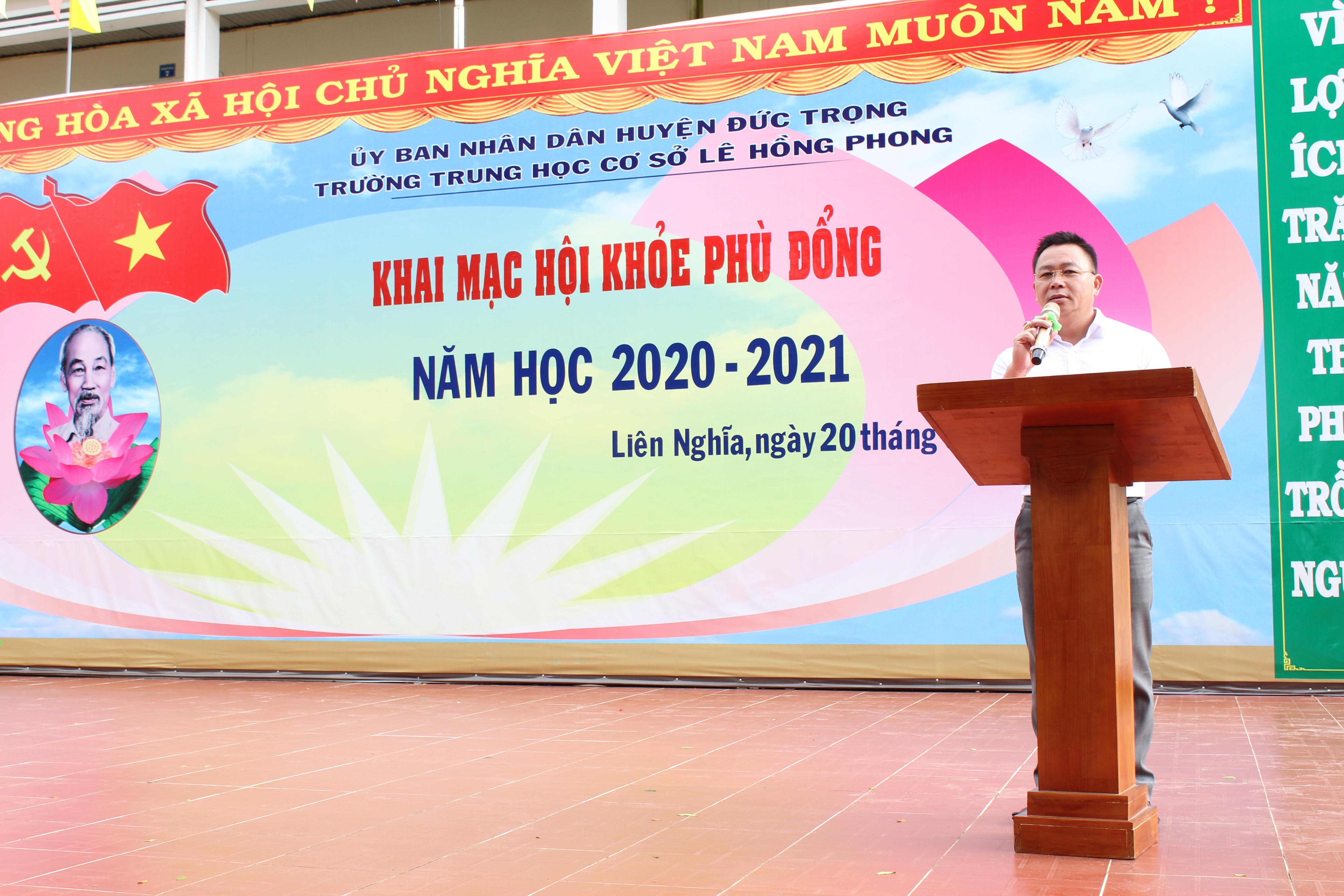Khai mạc Hội khỏe Phù đổng cấp trường Năm học 2020 – 2021